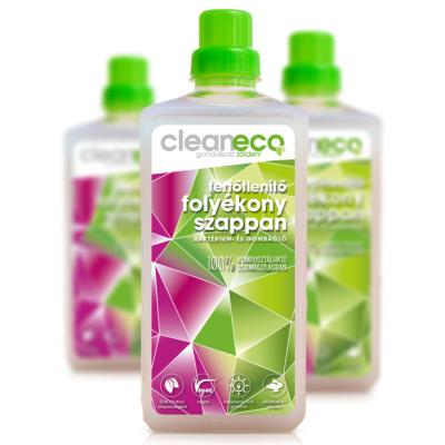 Cleaneco háztartási fertőtlenítő folyékony szappan 1l - komposztálható csomagolásban