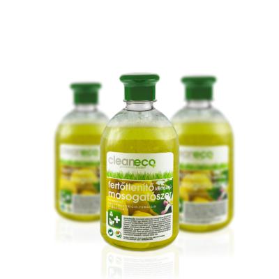 Cleaneco háztartási fertőtlenítő kétfázisú mosogatószer 0,5l - újrahasznosítható csomagolásban