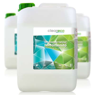 Cleaneco ipari  általános felület fertőtlenítő 5l kanna - újrahasznosított csomagolásban