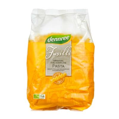dennree BIO gluténmentes kukorica-rizs fusilli (orsó) tészta 500g