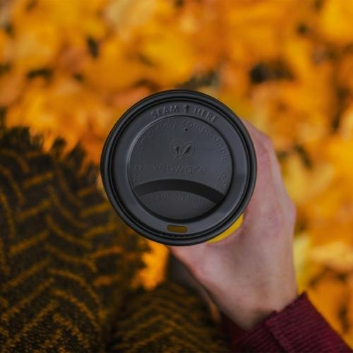 89 mm fekete CPLA kávés pohártető (2,8-5,7 dl pohárhoz) , 1000db