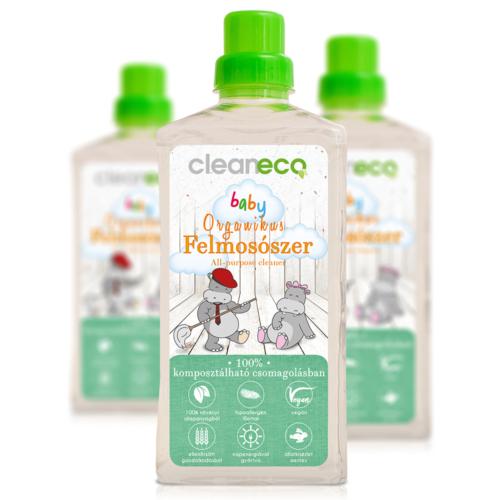 Cleaneco Háztartási Baby Organikus Felmosószer 1L - komposztálható csomagolásban