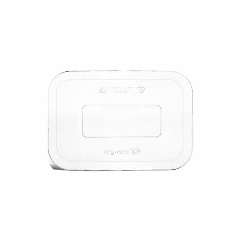 Elviteles doboz tető, 3,6-6,5 dl dobozaljhoz, lebomló PLA, hideg ételhez , 600db