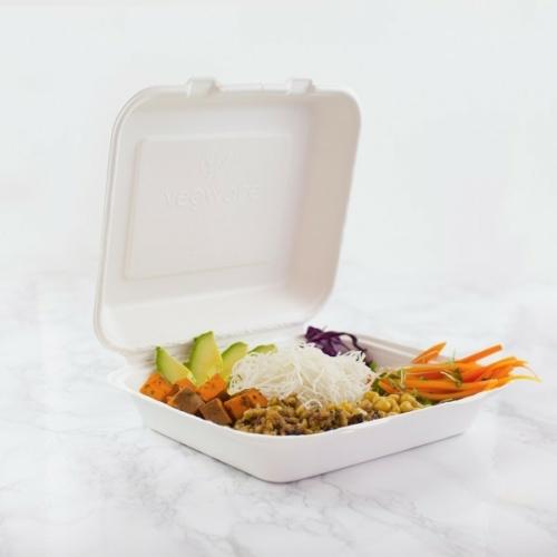 Elviteles doboz, 21,5*19.5 cm, lebomló cukornád , 200db