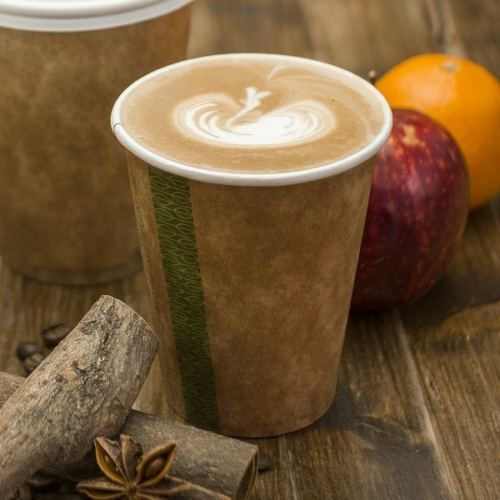 Kávés pohár, 2,3 dl, lebomló, barna , 1000db