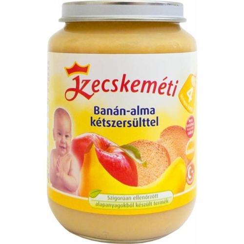 Kecskeméti Banán-alma kétszersülttel 190g bébiétel (min. rendelés 3db)