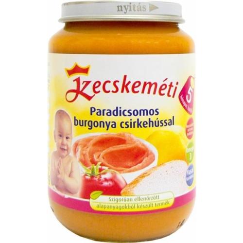 Kecskeméti Csirke paradicsomos burgonyával 190g bébiétel (min. rendelés 3db)