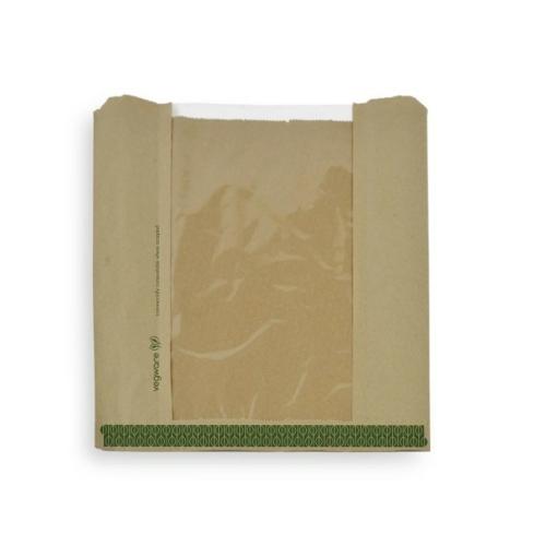 Papír zacskó, PLA ablakos, lebomló , 1000db