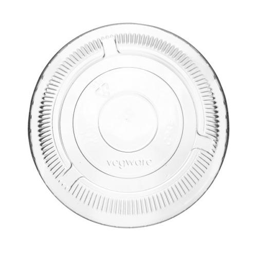 PLA pohár tető, szívószál nyílás nélkül (normál pohárhoz) 96 mm lapos , 1000db