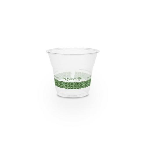 PLA pohár, keskeny, 1,4 dl, lebomló, hideg italokhoz , 1000db