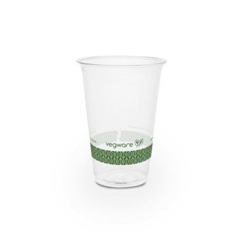 PLA pohár, keskeny, 2,5 dl, lebomló, hideg italokhoz , 500db