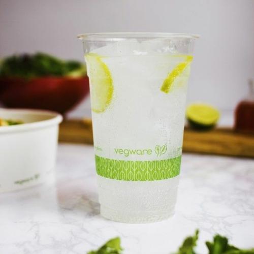 PLA pohár, standard, 5,7 dl, lebomló, hideg italokhoz , 500db