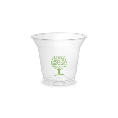 PLA pohár, standard, Green Tree, 2,5 dl, lebomló, hideg italokhoz , 500db
