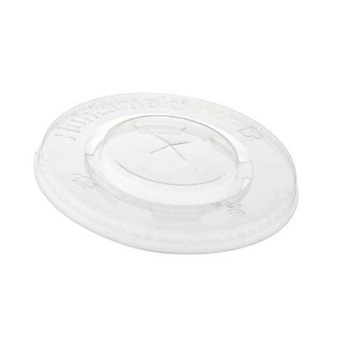 Pohár tető, lapos, PLA, 3-5 dl poharakhoz, szívószálnyílással , 1000db