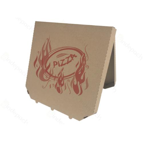Pizza doboz 28 cm csapott sarkú barna , 100db