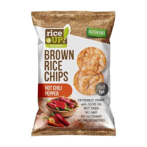 Rice Up Telj.kiőrl.barna rizs chips 60g csípős chili (GLM)