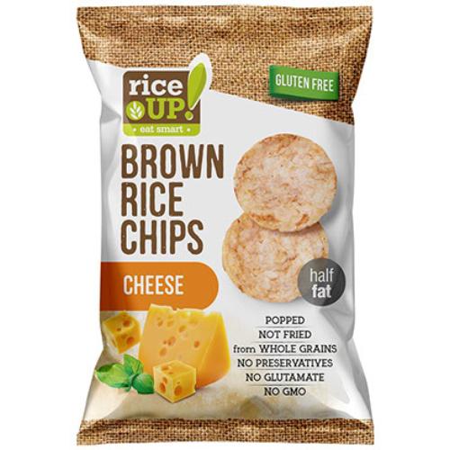 Rice Up Telj.kiőrl.barna rizs chips 60g sajtos (GLM)