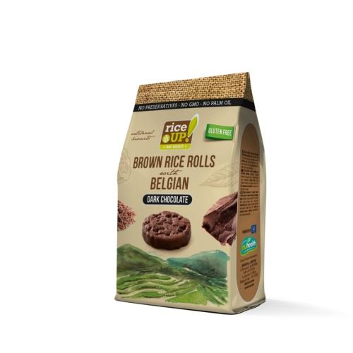 Rice Up barna rizs snack 50g étcsokis (GLM)