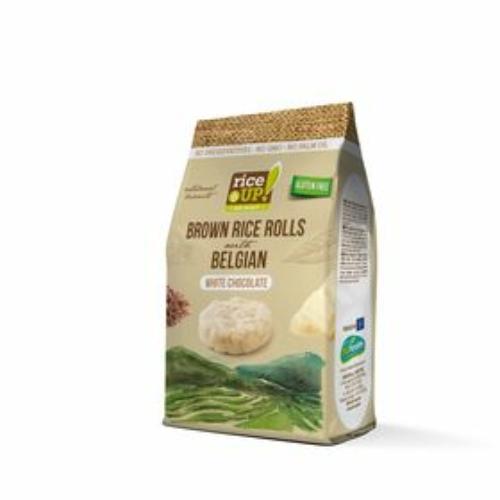 Rice Up barna rizs snack 50g fehércsokis (GLM)