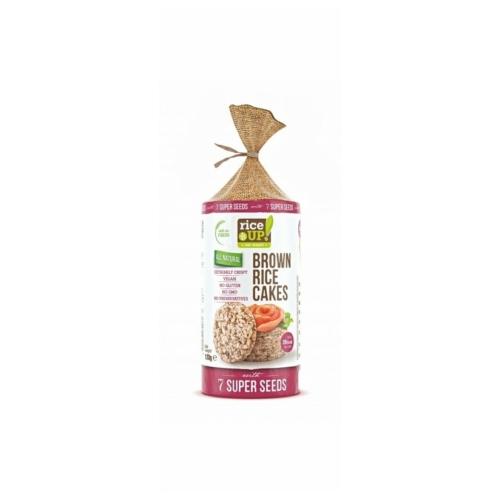 Rice Up teljes kiőrlésű barna rizs szelet 7 szupermaggal 120 g