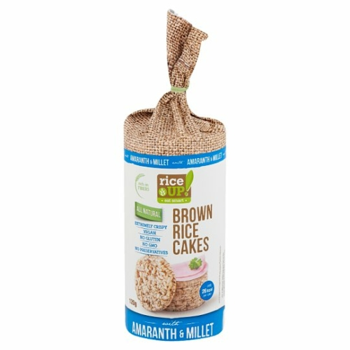 Rice Up teljes kiőrlésű barna rizs szelet kölessel és amaránttal 120 g