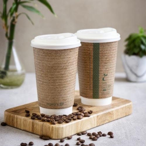 Teás pohár, 4,5 dl, dupla falú, barna , 400db