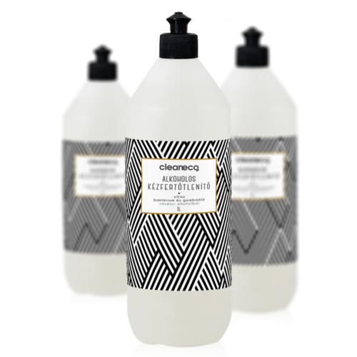 Cleaneco ipari Alkoholos kézfertőtlenítő folyadék virucid 1l sportkupakkal