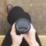 Kép 2/2 - 79 mm fekete CPLA kávés pohártető (2,3 dl pohárhoz) , 1000db