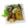 Kép 1/2 - Cukornád tányér, négyszögletes, 20 cm,lebomló, 500 db