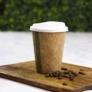 Kép 1/2 - Teás pohár, 3,4 dl, lebomló, barna , 1000db