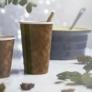 Kép 1/2 - Teás pohár, 4,5 dl, lebomló, barna , 1000db